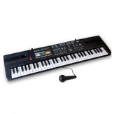 61 Keys Children's Electronic Piano Keyboard Double Horn Stereo Sound with Microphone