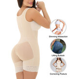 Front Zipper Lift Hips Body Shaper Bodysuit