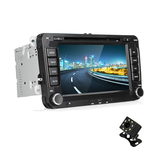 7 Inch 2 Din For Wince 6.0 Car Stereo Radio DVD MP5 Player bluetooth GPS Hands-free SD FM USB With Rear View Camera For VW Passat Golf Transporter T5