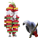 Kuş Çiğneme Oyuncak Amerika Papağanı için Büyük Orta Papağan Kafesi Isırık Oyuncaklar, Afrika gri, Papağanları ve Cockatoos