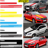 5Pcs Car Body Racing Side Door Long Sticker Hood Mirror Decal Vinyl Stickers