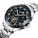 TEVISE T855A Full Steel Business Style Waterproof Men Automatic Mechanical Watch