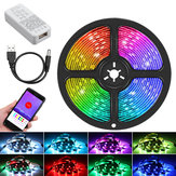 1M 2M 3M 5M contrôle bluetooth RGB USB WS2812B adressable individuellement LED Strip Light KTV Bar Home Stair DC5V Décorations de Noël Dégagement Lumières de Noël