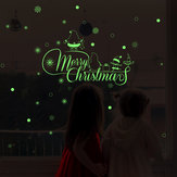 Miico HM31009 Christmas Wall Sticker For Room Decorations Luminous Pattern Background Decorative Sticker Removable