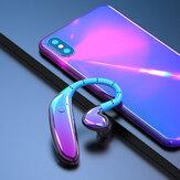 Único bluetooth 5.0 fone de ouvido dinâmico hi-fi à prova d 'água de grande capacidade pendurado fone de ouvido com microfone para xiaomi Huawei