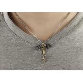 Pterosaur Golden  Titanium Steel Men's Necklace