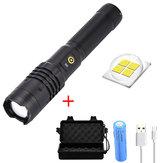XANES® XH-P50 1000 lúmenes LED Linterna con zoom 18650 Batería USB recargable 3 modos de trabajo Lámpara