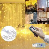3M * 3M Utendørs USB 8 Modus 300LED Gardin String Light Fairy Christmas Lights Wedding Lamp Festival Holiday Decor