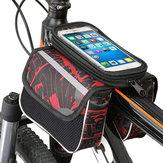 高容量600Dポリエステルタッチスクリーン電話便利な自転車フロントフレームバッグマウンテンバイクバッグ