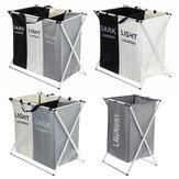 3 grades de roupa dobrável armazenamento cabaz cestas organizador lavanderia Bolsa