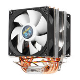 3 Pin 4 Heatpipes CPU Cooling Fan Cooler Heatsink for Intel AMD