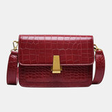 Women Vintage Lizard Grain Crossbody Bag Shoulder Bag