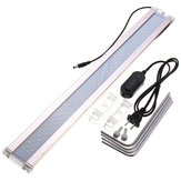 28-75cm 7500K 12/14 / 24W LED Acquario Light Plant Fish Tank Bar Sommergibile