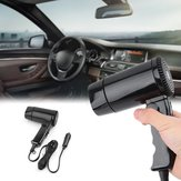 Portable 12V Hot And Cold Folding Camping Travel Car Styling Hair Dryer Window Defroster