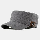 Chapéu liso de algodão lavado para homem