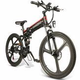 [EU Direct] SAMEBIKE LO26 10.4Ah 48V 350W Moped Elektrofahrrad 26 Zoll Smart Faltrad 35km / h Höchstgeschwindigkeit 80km Laufleistung Max. Zuladung 150kg Mit EU-Stecker