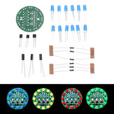DIY LED Round Flash Electronic Production Kit Component Soldering Training Practice Board