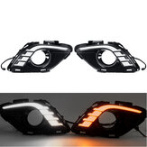 LED DRL Daytime Running Lights Turn Signal Lamp Dual Colors Pair for Mazda 6 Atenza 2013-2015