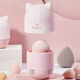 Beauty Powder Puff Blender Holder Gąbka do makijażu Egg D