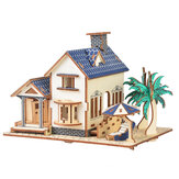 3D Woodcraft Assembly Boneca House Kit Decoração Toy Model for Kids Gift