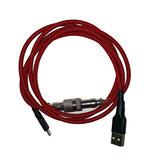 Teclado mecânico Metropolis Cable Conector Mechables Pulse V3 Bobina com revestimento personalizado Type-C Cabos USB Cabo de extensão USB Conector