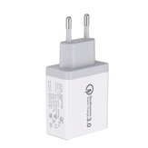 EU 30W QC 3.0 3 USB Ports Charger Power Adapter for Tablet Smartphone