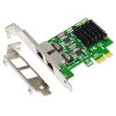 SSU 8120-T2 2 مدخل 1000Mbps جيجابت إيثرنت PCI-E Network بطاقة PCI Express RJ45 LAN محول Expansion بطاقة for Desktop PC
