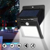 2 pcs LED Solar Power Cahaya PIR Motion Sensor Taman Halaman Wall Lamp Keamanan Outdoor
