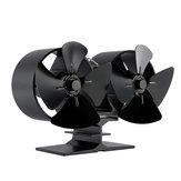 IPRee® 8-Flügel-Doppelmotoren-Kaminlüfter Wärmeleistung Herdlüfter Holzbrenner-Lüfter Wärmeleistung Lüfter