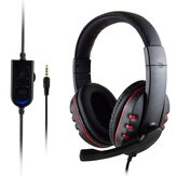 3.5mm + USB Wired Gaming Headset Heavy Bass Headset para PS4 / XBOX - UM / PC Gamer por Computador Profissional