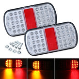 2pcs 12V 36 LED Rear Tail Lights Waterproof For Boat Trailer Marker Truck Caravan Lorry Van