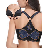Front Closure Wireless Push Up Bras