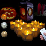 12PCS LED Flickering Candle Tea Light With Remote Control for Home Garden Balcony Decor