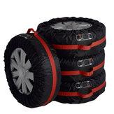 4 stks autoband band seizoensgebonden reservebeschermhoes draagtas handvat opbergtas