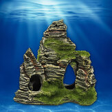 Mountain View Aquarium Rock Cave Stone Tree Bridge Fish Tank Ornament Decorations