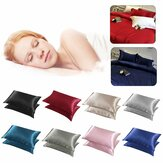 2pcs Silky Soft Pillow Case Bed Cushion Cover Pillowcase Luxury Room Home Gift