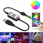 0.5m 2m 3m 5m 5050 Waterproof bluetooth APP Control RGB USB LED Strip Light Outdoor KTV Hotel Home Decor Christmas Decorations Clearance Christmas Lights
