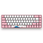 AKKO 3068 World Tour - Tokio 68 Tasten Mechanische Gaming-Tastatur Bluetooth 3.0 USB die Sublimation Cherry MX Switch PBT Keycaps Gaming-Tastatur