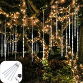 AC110-240V 50CM Impermeabile IP65 180LED Pioggia di meteoriti Pioggia 5 tubi String Light Holiday Party Christmas Outdoor Decor