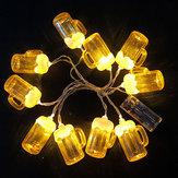 10 LED Lanterna a corde per festival che appende lampada Luce da notte decorativa per la casa nel patio per feste