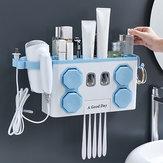 Dispenser automatico per dentifricio Capelli porta spazzolino multifunzione