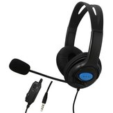 Gaming Headset 3.5mm + USB Kabel Omnidirektionaler Kopfhörer Deep Bass Kopfhörer mit Mikrofon für PS4