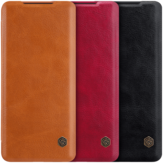 NILLKIN Flip Shockproof met Card Slot Holder Full Cover PU Leather Vintage Beschermhoes voor Samsung Galaxy S20 Ultra