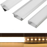 45cm U/V/YW Style Aluminium Channel Holder for LED Strip Light Bar Cabinet Lamp