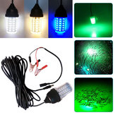 DC12-24V Underwater LED Deep Drop Lure Flash Fish Lamp IP68 avec DC Cable Line for Aquarium Fishing Tank