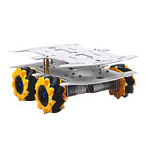 D-32 DIY DDouble Decker Smart RC Robot Car Chassis Base With 80MM Omni Wheels DC 12V 1:46 Motor