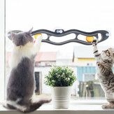 Yani Cats Pets Ball Toy Suction Cup Windows Cat Toy Tube Toy With Balls Cat Toy Play Track Tunnel Pet Toys