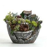 粘土Skyガーデン多肉植物プランター植木鉢サボテン苔盆栽植物ポットバスケットボックス