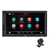 7 Inch 2 Din N6 For Wince Car Radio Stereo MP5 Player 1+16G bluetooth GPS Touch Screen HD  NAV FM AUX USB With Rear View Camera