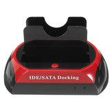 2.5'' 3.5'' SATA HDD IDE Hard Drive Docking Station TF SD Card Reader Hard Disk Dock Multifunction Docking Bay for Mac Hard Drive Enclosure UK Plug